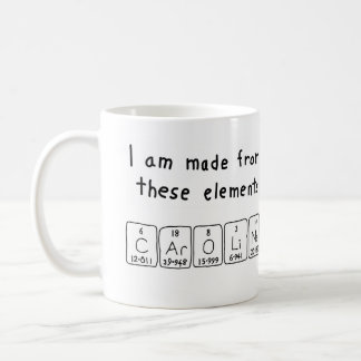 Caroline periodic table name mug