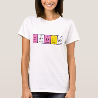 Caroline periodic table name shirt