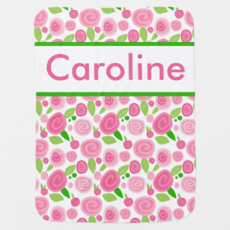 Caroline's Personalized Rose Blanket