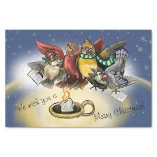 Caroling Birds Christmas Tissue Paper