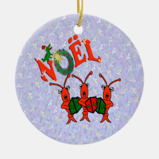 Caroling Crawfish with Alligator Ornament