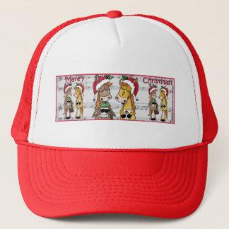 Caroling Horses- 'Mare'y Christmas Trucker Hat