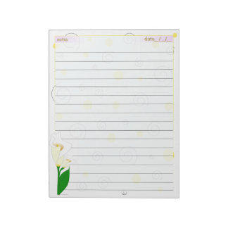 Caroling Lilies Notepad