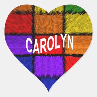 CAROLYN HEART STICKER