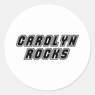 Carolyn Rocks Round Sticker