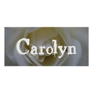 Carolyn White Rose Bedroom Door Banner Poster