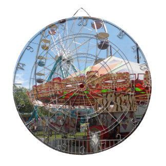Carousel and Ferris Wheel at the Fair Dartboards