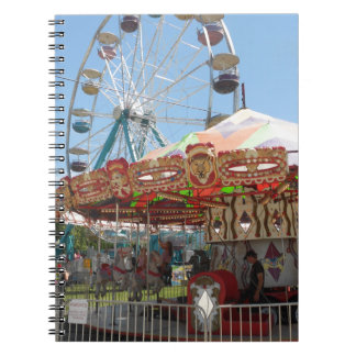 Carousel and Ferris Wheel at the Fair Spiral Notebooks