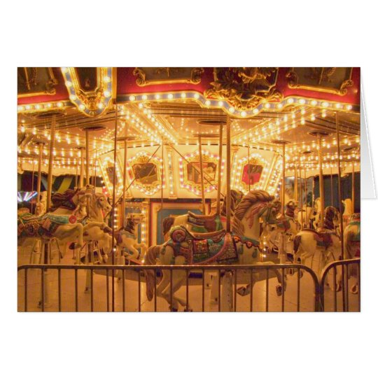 Carousel at Night Card