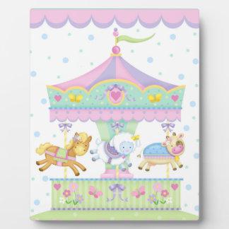 Carousel Baby Art Easel Plaque