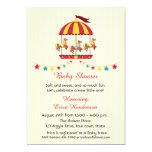 "Carousel Baby Shower 5"" X 7"" Invitation Card"