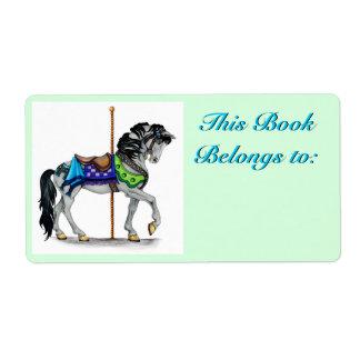 Carousel Book Plate Label
