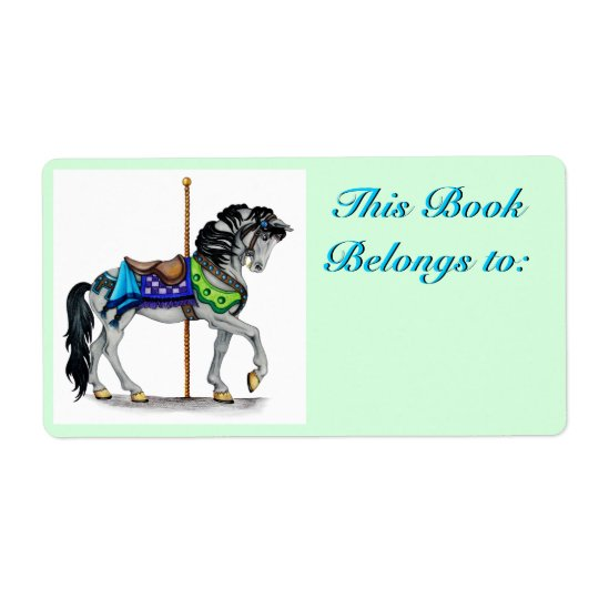 Carousel Book Plate Label Shipping Label