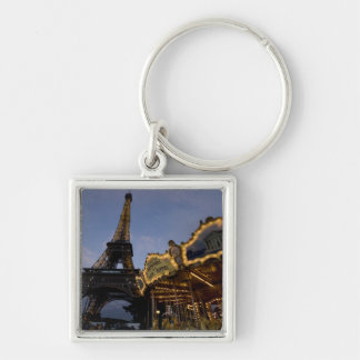 Carousel by the Eiffel Tower in the evening, Key Chain