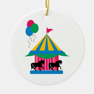 Carousel Ceramic Ornament