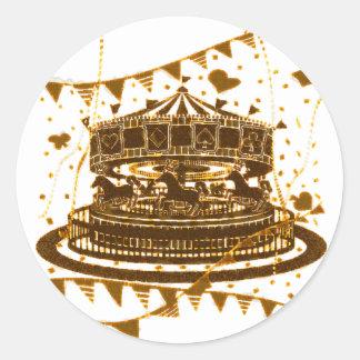 Carousel Classic Round Sticker