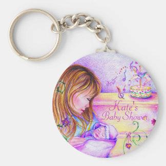 Carousel Dreams Button Keychain