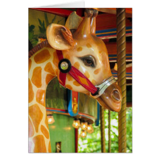 Carousel Giraffe Greeting Card