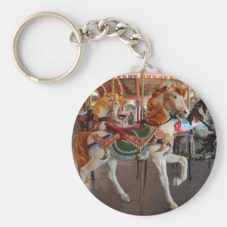 Carousel Horse,2 Basic Round Button Key Ring