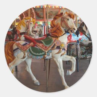 Carousel Horse,2 Classic Round Sticker
