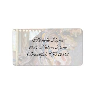 Carousel Horse Address Address Label