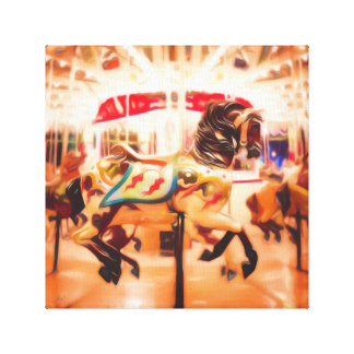 Carousel Horse Canvas