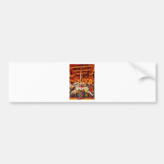 Carousel horse design bumper sticker