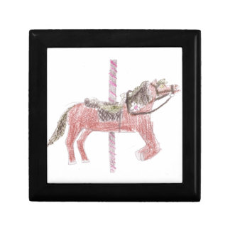 Carousel Horse Design Small Square Gift Box