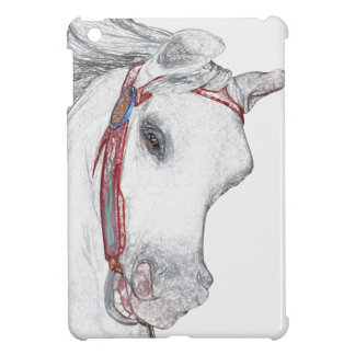Carousel Horse Face Beautiful Drawing | Equestrian Cover For The iPad Mini