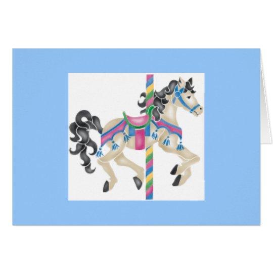 Carousel Horse - Happy Birthday Card