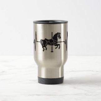 Carousel Horse - Heartbeat Pulse Travel Mug