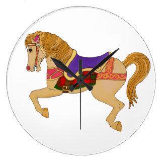 carousel horse large clock