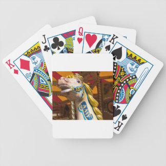 Carousel horse on merry goround poker deck