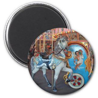 Carousel Horse with Cherub! Fridge Magnets