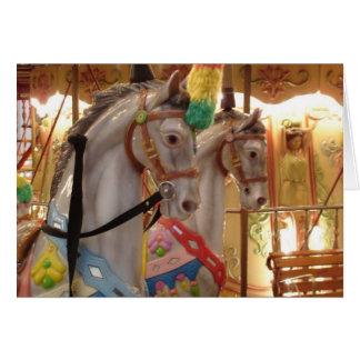 Carousel Horses Card