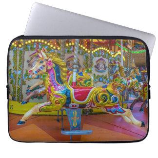 Carousel horses laptop sleeve