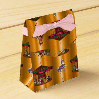 Carousel Horses on Gold Favour Box