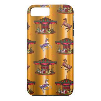 Carousel Horses on Gold iPhone 8 Plus/7 Plus Case