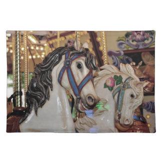 Carousel horses print placemat