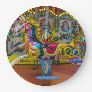 Carousel horses wall clock