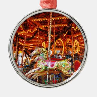 Carousel hose design Silver-Colored round decoration