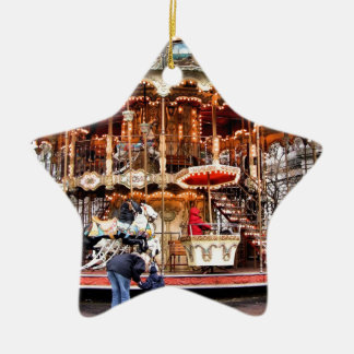 Carousel in Montmartre Ceramic Star Decoration