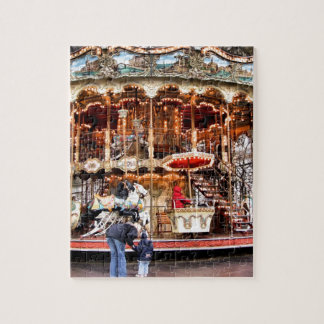 Carousel in Montmartre Jigsaw Puzzle
