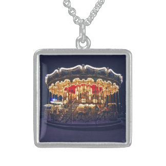 Carousel in Paris Sterling Silver Necklace
