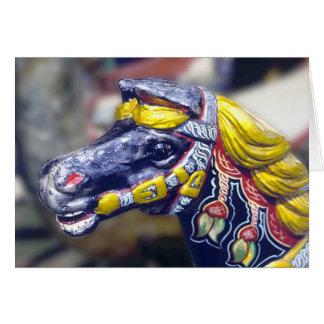 Carousel pony card