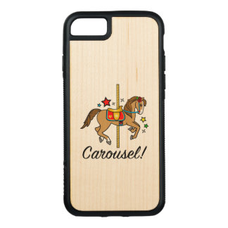 Carousel Pony with Stars Carved iPhone 8/7 Case