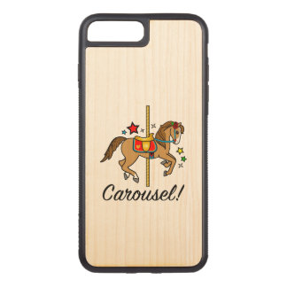 Carousel Pony with Stars Carved iPhone 8 Plus/7 Plus Case