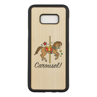 Carousel Pony with Stars Carved Samsung Galaxy S8+ Case