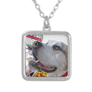 Carousel Ride Silver Plated Necklace