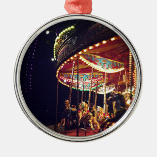 Carousel Silver-Colored Round Decoration